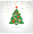sign Christmas tree vector image vector image