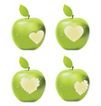 Green Apple Bite vector image
