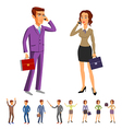 set characters design office team man women vector image