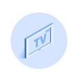 4k tv icon vector image