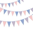 Bunting banner Rose quarts and serenity colors vector image