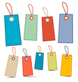 Empty Labels - Tags with Ropes - Strings - Retro vector image