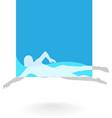 Swimming Logo Design Element vector image