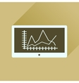 Flat icon with long shadow economic presentation vector image