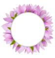Magnolia Circular Frame vector image vector image
