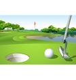 a golf course vector image