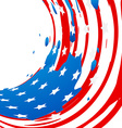 american flag made from ink vector image