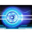 Background techno vector image