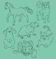 Cat dog horse rabbit rat tiger vector image