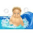 child bath vector image
