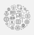Crypto market round - symbol vector image