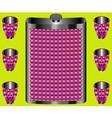 Flask for liquids vector image