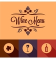 flat wine menu design elements vector image