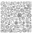 Hand drawn Breakfast set vector image