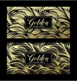 Luxury golden modern card vector image