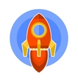 Rocket Icon in Flat Style vector image