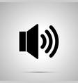 speaker simple black icon vector image