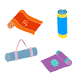 set of yoga mats vector image
