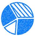 pie chart icon grunge watermark vector image