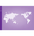 World map color and compass of vector image vector image