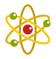 nucleus and orbiting electrons icon isolated vector image
