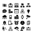 network and communication icons 8 vector image