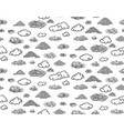 monochrome doodle sky elements seamless pattern vector image