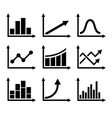 Business Infographic Graph Icons Set vector image