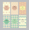 a collection of six designs cards vector image