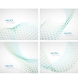abstract waves background set vector image