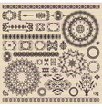 set of vintage pattern design elements vector image