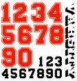 Varsity numbers vector image