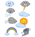 Weather symbol cartoon vector image