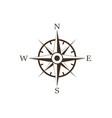 wind rose retro design icon vector image
