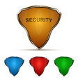 protection shield set vector image
