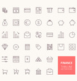 Finance Outline Icons for web and mobile apps vector image vector image