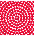 red hearts round cards vector image