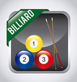 Billiard play design vector image