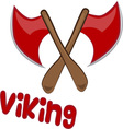 Viking Axe vector image
