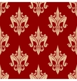 Bright red french fleur-de-lis seamless pattern vector image