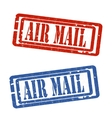 Air mail grungy stamp vector image