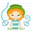 beautiful girl with sea vector image