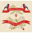 Christmas greeting banners vector image