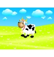 Cow on a meadow vector image