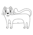 Funny cute red cat with white tummy coloring book vector image