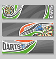 horizontal banners for darts board vector image