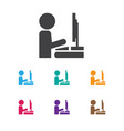 of office symbol on vector image