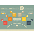 Presentation slide template or business vector image