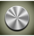 Round stainless button vector image