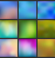 Set of Abstract colorful blurred background Can vector image